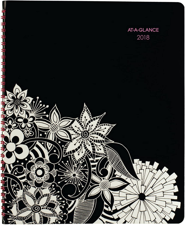 Einen Blick wöchentliche monatliche Amts Book Planer, Premium, Januar 2018 – Januar 2019, 8–1 5,1 x 27,9 cm floradoodle (589–905) B06ZYNHBZ7   Zuverlässige Qualität
