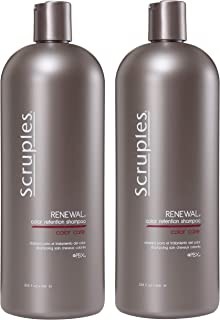 Scruples Renewal Color Retention Shampoo for Color Treated Hair (33.8 Ounce) Safe for All Hair Colors - Prevents Color Fade - For Daily Use by Men & Women (Pack of 2)