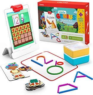 Osmo - Little Genius Starter Kit for iPad + Early Math Adventure - 6 Educational Learning Games - Ages 3-5 - Counting, Sha...