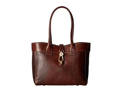 Dooney & Bourke Florentine Classic Large Amelie Shoulder Bag (Chestnut/Self Trim) Shoulder Handbags