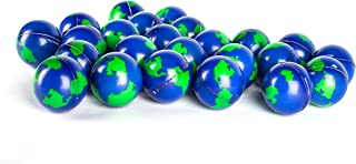 "Bulk Lot of 2 Dozen World Stress Balls Earth Stress Relief Toys Therapeutic Educational Balls 24 Globe Squeeze 2 "" Stress Balls"
