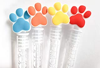 Puppy Paws Bubbles Party Favors, Celebrations Birthday Supplies Girls Boys Gift Kids Clear Mini Bottle Wands Non Toxic Pups Patrol Bear Red Orange Yellow Blue