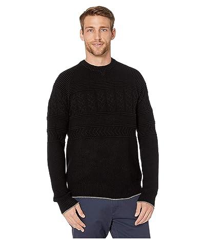 Obermeyer Textured Crew Neck Sweater (Black) Men