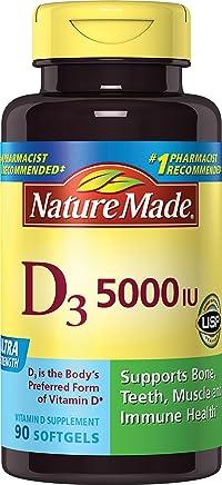 Nature Made Vitamin D3 5000 IU Ultra Strength Softgels 90 Ct