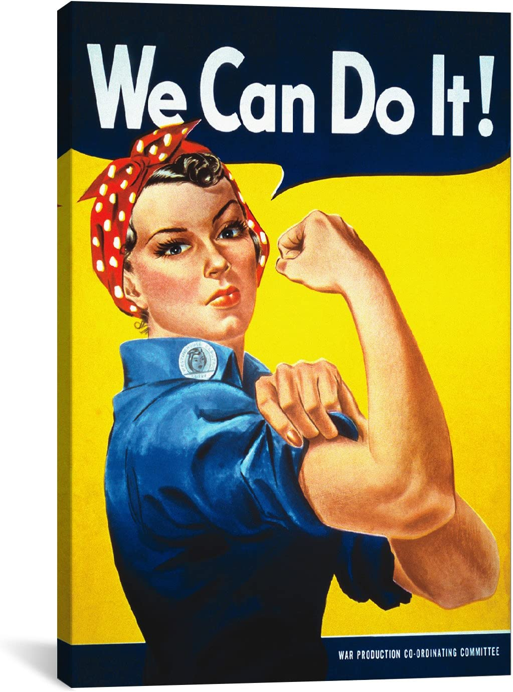 Icanvasart We Can Do It Rosie The Riveter Poster Canvas Art Print By J Howard Miller 18 By 12 Inch Posters Prints