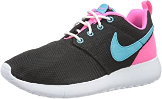 nike roshe run blue and pink