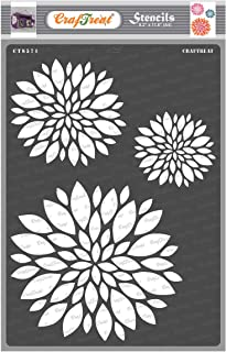 Craftreat Flower Stencil for Craft - Mum Flower - Size A4 - Reusable DIY Stencils for Painting - Flower Stencils for Wall ...
