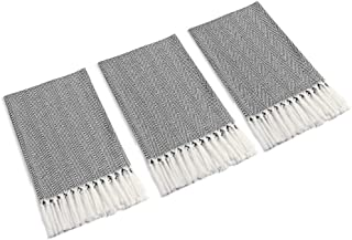 Mia'sDream Turkish Cotton Hand Face Head Guest Gym Towel Set Peshtemal Washcloth Kitchen Tea Towel Dish Cloth Set 3 Pack 1...