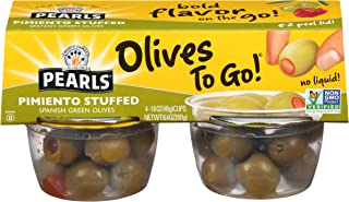 Sponsored Ad - Pearls Olives To Go!, Pimiento Stuffed, Spanish Green Olives, 1.6 oz, 24-Cups