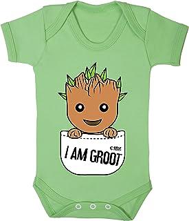 Colour Fashion Groot nel Tasca Supereroe Divertente Costume Bambino Body 100/% Cotton 0-24