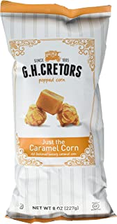 G.H. Cretors Popcorn, Just the Caramel Corn, 8-Ounce Bags (Pack of 12)
