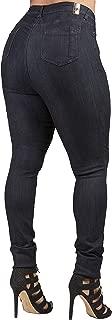 Women's Extra Curvy Fit Black Stretch Denim Classic Skinny Jeans