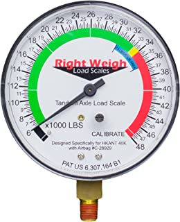Right Weigh Replacement Gauge 310-HKANT40K-GO (Gauge Only) Tandem Axle Load Scale for Hendrickson VANTRAAX HKANT40K, and ULTRAA-K UTKNT 40K Air Suspension