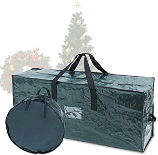Joiedomi Christmas Tree & Christmas Wreath Storage Bag Set– Fits up to 7.5 ft Disassembled Artificial Christmas Tree and 3...