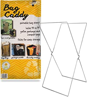 Bag Caddy - Portable Bag Stand for 33 to 39 Gallon Trash Bags, Style 52H8, 2018 Version, 2 Pack