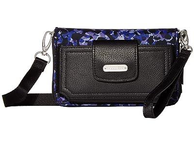 Baggallini New Classic RFID Phone Wallet Crossbody (Abstract Bloom) Cross Body Handbags