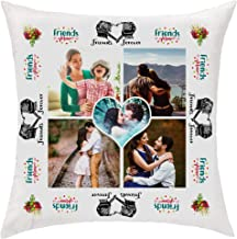 PIXART 16X16 Inchs. Special Friends Decorative Customized Polyester Satin Cushion/Pillow