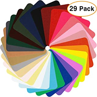 Augshy 29 Pieces Iron On Patches for Clothing Jeans, 29 Colors,4.9 x 3.7 Inch