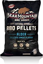 Bear Mountain BBQ 100% All-Natural Hardwood Pellets - Alder Wood (20 lb. Bag) Perfect for Pellet Smokers, or Any Outdoor Grill | Rich, Smoky Wood-Fired Flavor