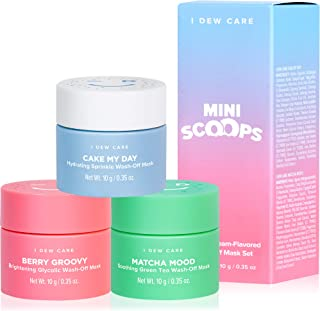 I DEW CARE Mini Scoops | Wash Off Facial Clay Mask Skin Care Trio | Korean Skin Care Starter Set | Self Care Gifts for Women | Facial Treatment, Vegan, Cruelty-free, Paraben-free