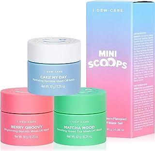 I DEW CARE Mini Scoops | Wash-off Face Mask Trio | کره ای مراقبت از پوست کره ای | وگان ، بی رحمی ، بدون پارابن