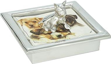 VIVAZ Rondele Napkin Box Set, Mutt, Recycled Aluminum