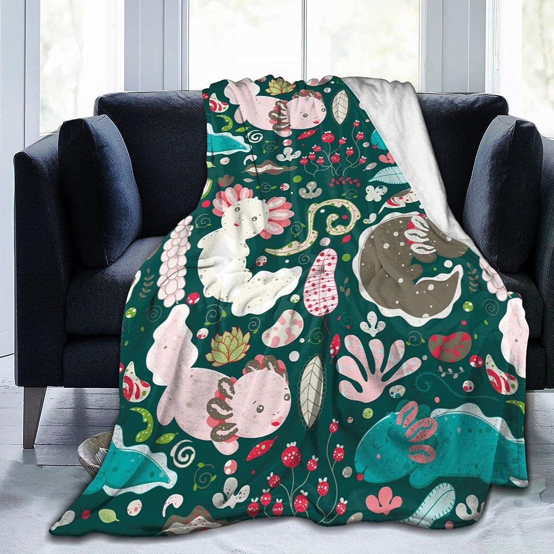 Axolotl Soft Throw Blanket Lightweight Max 49% OFF Arlington Mall fo Flannel Fleece