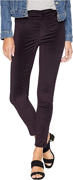 Barbara High-Waist Skinny Jeans in Prism Purple