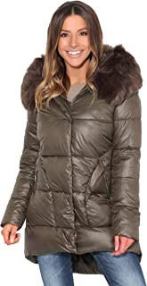 KRISP Women Ladies Long Puffer Jacket Thick Quilted Padded Winter Ski Coat Overcoat