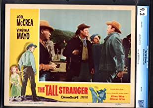 MOVIE POSTER: THE TALL STRANGER-JOEL MCCREA-WHIT BISSELL-LOBBY CARD-1957-CGC 9.2-NM- NM-