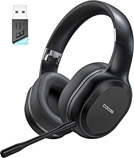 Sponsored Ad - COOSII Bluetooth Headphones Wireless with Dual Microphone, V5.0 USB Adapter for PC Computer Home Office Onl... photo