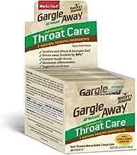 Gargle Away Advanced Throat Care, 20-PK   Natural cold throat remedy   Sore Throat Relief   Laryngitis   Mucus Relief   Voice Remedy   Oral Thrush   LPR   Post Nasal Drip   Sinus Congestion