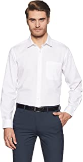 Amazon Brand - Symbol Men's Solid Regular Fit Full Sleeve Cotton Formal Shirt