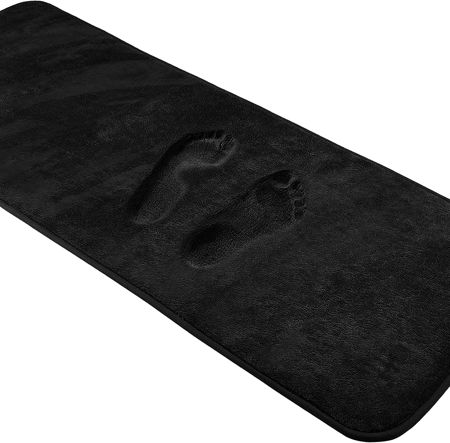 Black Memory Foam Max 46% OFF Bath Mat Easy-to-use Runner Absorbent 60 Non x 20 Inches