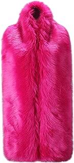 Women Winter Warm Faux Fox Fur Collar Scarf Stole Long Scarf Shawl
