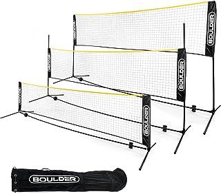 Boulder Portable Badminton Net Set - Net for Tennis, Soccer Tennis, Pickleball, Kids Volleyball - Easy Setup Nylon Sports ...