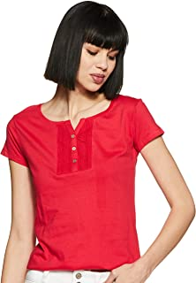 MAX Women's Floral Print Short Sleeves T-shirt