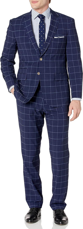 Kitonet Kitoner Men's Stretch Slim Fit Check 2pc Suit