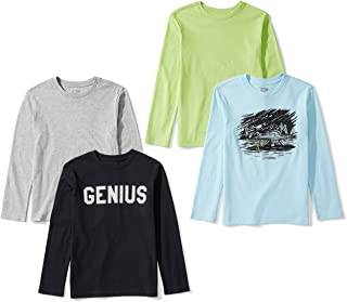 Amazon Brand - Spotted Zebra Boy's Toddler & Kids 4-Pack Long-Sleeve T-Shirts