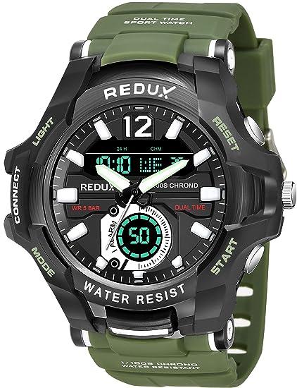 Redux Dual Time Analog Digital LED Display Watch for Men Men's Wrist Watches