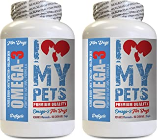 I LOVE MY PETS LLC Dog Health Supplements - Omega 3 Fish Oil for Dogs - Advanced Premium Quality - Omega 3 for Dogs Capsule - 360 Softgels (2 Bottles)