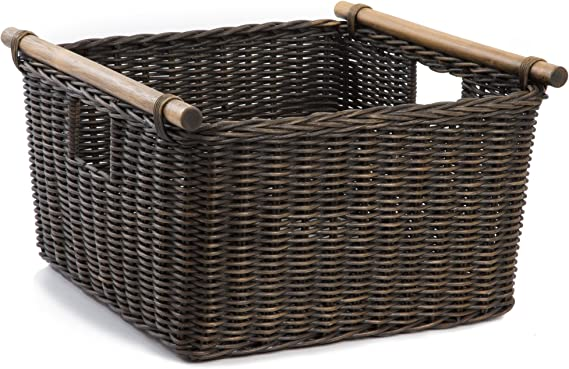 Janrely Large Round Storage Basket with Handles,Tennis Ball in Fire and Water Tennis Ball Enveloped in Elements,Waterproof Coating Organizer Bin Laundry Hamper for Nursery Clothes Toys 19x 14