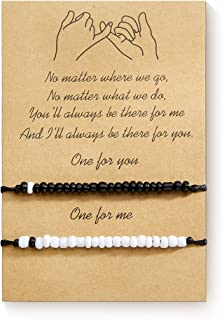 Pinky Promise Friendship Bracelets Best Friend Birthday Gifts Matching Long Distance bracelet for Couple Sister Mother Dau...