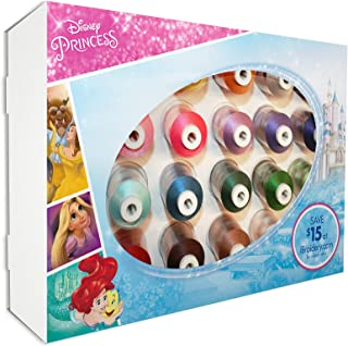 Brother ETPPRIN24 Disney Princess Embroidery Thread 24 Pack, Multi