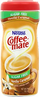 Nestle Coffee-mate Sugar Free Vanilla Caramel Powder Coffee Creamer 10.2 Oz. Canister | 6 Pack | Non-dairy, Lactose Free, ...