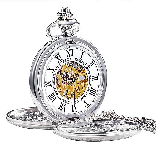 Jewelry & Watches Watches, Parts & Accessories Roman Lid Brass Numarls Pocket Watch With Glasstop Presentation Box