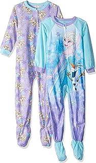 Disney Girls' Toddler Frozen Elsa 2-Pack Fleece Footed Blanket Sleeper