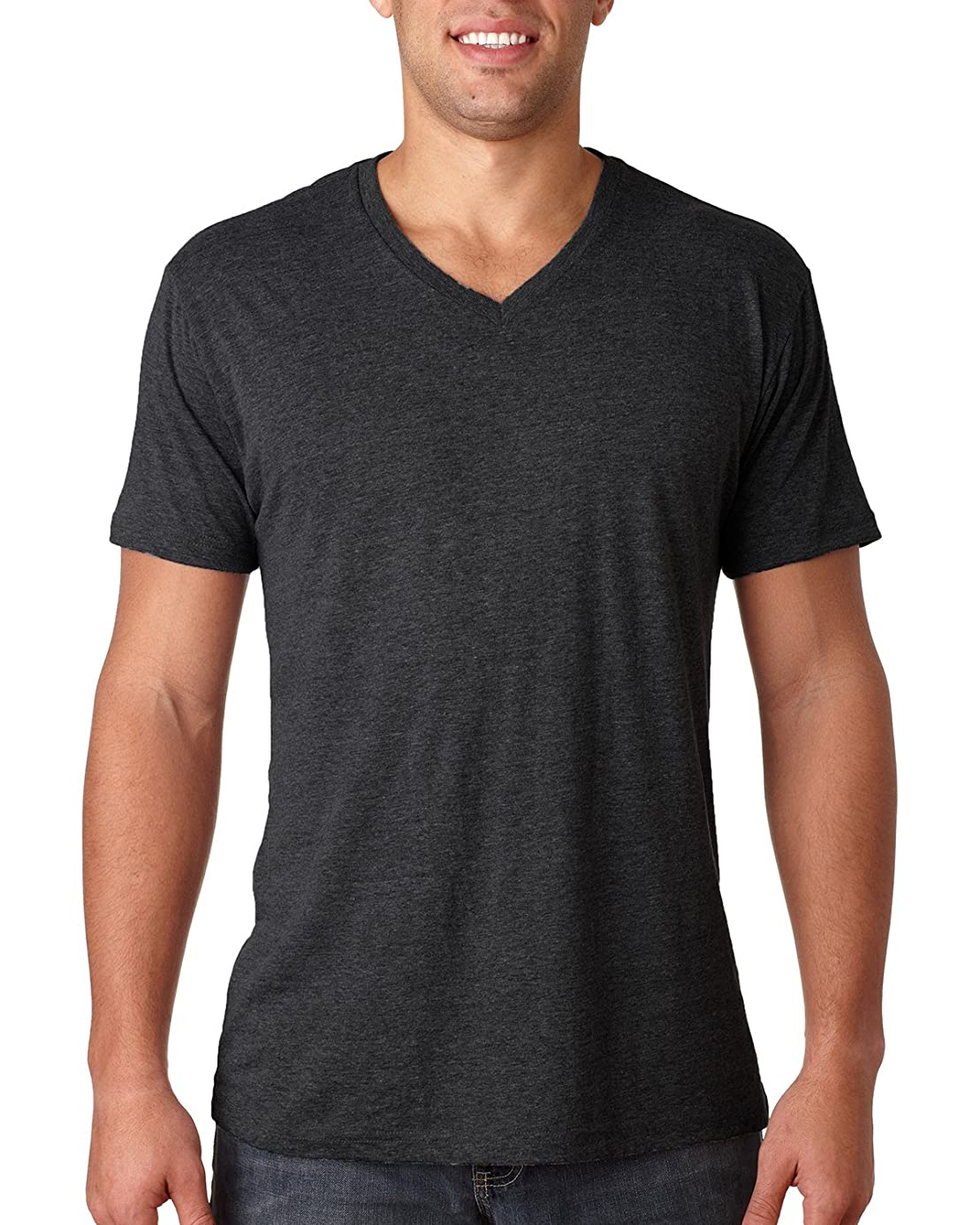 Next Level Men's Tri-Blend V (Vintage Black) (Small) gba9215179
