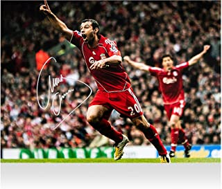 """Javier Mascherano Liverpool Autographed 12"""" x 16"""" Anfield Goal Photograph - ICONS - Fanatics Authentic Certified"""