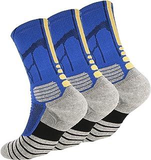 N-A Tisone Elite Basketball Socks for Kids & Adault, Cushioned Mid-Calf Athletic Sports Crew Socks for Boys Girls Men & Women